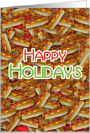 Hot Dog Christmas Happy Holidays for Meat Processing Business card