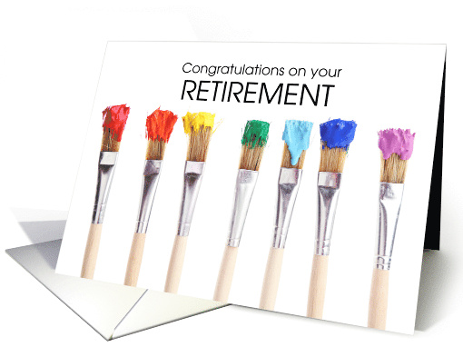 Retirement Congratulations Artist Paint Brushes with... (1503682)