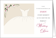 Good Luck Wedding Dress Shopping Future Daughter in Law card