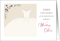 Good Luck Wedding Dress Shopping for Bride to be card