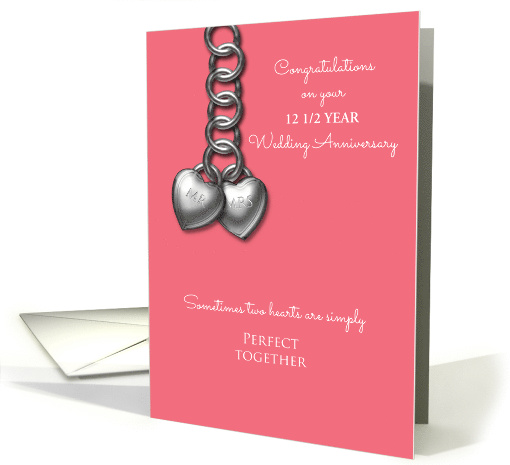 12 1/2 Year Wedding Anniversary Silver Effect Mr and Mrs... (1592246)