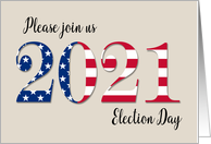 Invitation Election Day 2020 Patriotic Party card