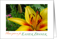 Please join us for Easter Dinner card