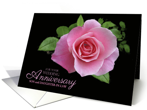 Son and Daughter-in-Law Wedding Anniversary Pink Rose... (403978)
