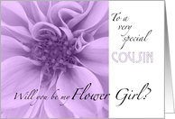 Cousin-Will you be my Flower Girl? card