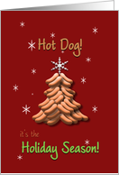 Christmas Business Hot Dog Tree with Star Happy Holidays card