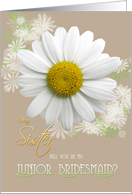 Sister Will you be my Junior Bridesmaid? Daisy Oyster color card