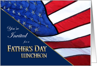 Father's Day Luncheon Invitation Patriotic with American Flag card