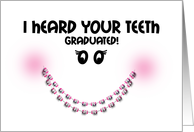 Congratulations Braces Off - Teeth Graduated Braces Smile Pink card
