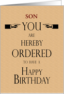 Son Birthday Law...
