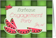 Engagement Party Invitation Barbeque Theme Watermelon card