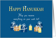 Hanukkah Presents Everything on your Wish List card