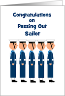 Passing Out Congratulations British Naval College Row of Sailors card
