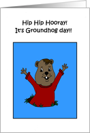 hooray its groundhog day card