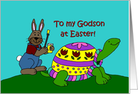 Colourful Easter turtle card