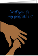 will you be my godfather in blue ethnic card