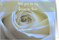 Will you be my Sister-in-Law card