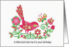 Little Bird Birthday in Pink card