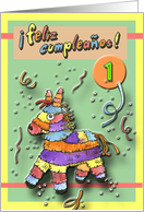 1st Birthday - Spanish card