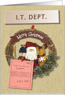 I.T. Cubicle Happy Holidays card