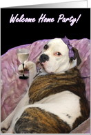 Welcome Party Olde English bulldogge card