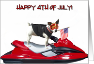 Happy 4th of July Jack Russell Terrier card