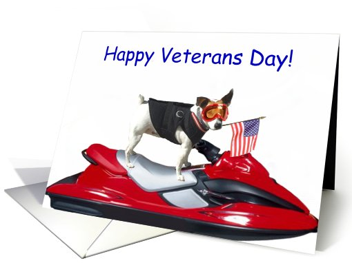 Happy Veterans Day Jack Russell Terrier card (507855)