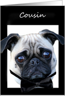 Cousin will you be my Best Man Pug card