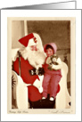 Santa's Promise - Vintage Life Series, Young Girl on Santa's Lap card