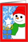 Joyful Christmas from Our House to Yours, Cute Illustrated Snowman card