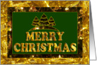 Gold Foil - Merry Christmas card