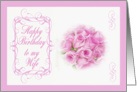 Birthday - Wife, Pink Roses card