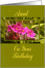 Birthday - Aunt with Magenta African Violets card