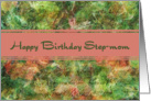 Birthday - For Step-mom (collage of Nasturtiums) card