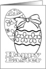 Happy Easter - Coloring Card for Kids card