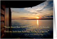 Amazon River Sunset Photo Over Water with Inspirational Quote card