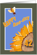 Happy Bee-Day - 42 - Sunflower and Bee card