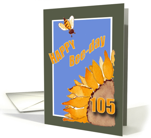 Happy Bee-Day - 105 - Sunflower and Bee card (831770)