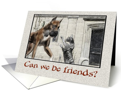 Finding friends in strange places card (323428)