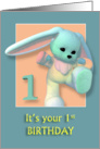 Your First Birthday Sweet Bunny card