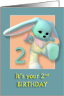 Your 2nd Birthday Sweet Bunny card