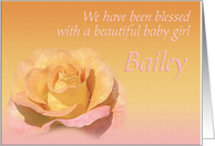 Bailey's Exquisite Birth Announcement card