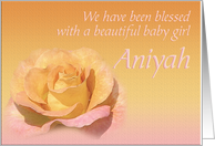 Aniyah's Exquisite Birth Announcement card