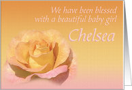 Chelsea's Exquisite Birth Announcement card