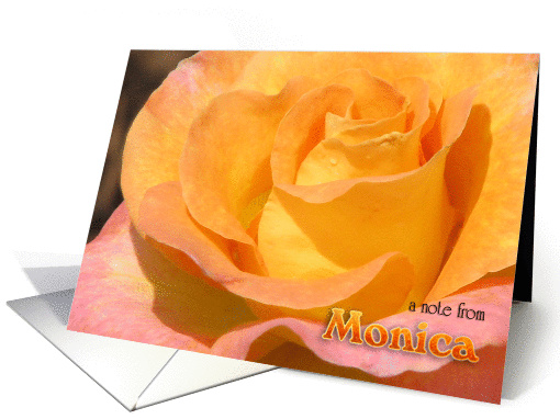 Monica's Note Card (blank) card (390699)