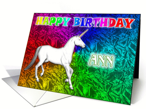 Ann's Unicorn Dreams Birthday card (393255)