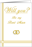 Brother, Please Be my Best Man card