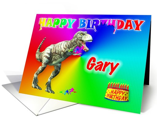 Gary, T-rex Birthday Card Eater card (398249)