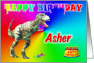 Asher, T-rex Birthday Card Eater card