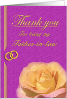 Father-in-Law Thank you card